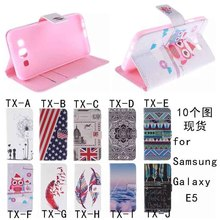 Factory price pu leather case slim flip cover for samsung galaxy e5 e7 a3 a5 a7 cell phone cases