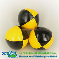 China manufacturer of soft leather juggling ball