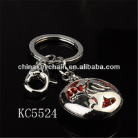 china manufacturer new products round metal keychain