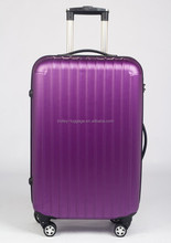 New brand purple color travel luggage bags / 4 double wheels trolley suitcase