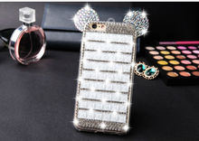 promotion beautiful diamond crystal bling hard cell mobile phone cover case