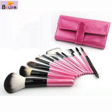Professional 11Pcs Makeup Brush Set tools Facial Care Cosmetic Make up Brushes Set with Case private label