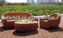 2012 outdoor furniture aluminium frame&PE rattan
