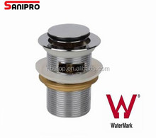 40mm Watermark stainless steel bath sink drain cover overflow