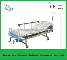 Alloy side rail 2-position manual used portable hospital bed