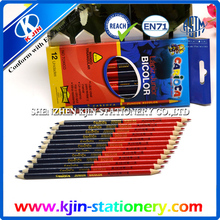 color box packing customized colored factory wholesale double sided pencil