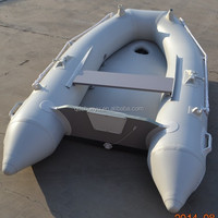 hot!!!CE 2.3m 2 passengers airmat floor fishing boat inflatable boat