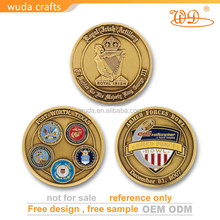 Custom gold plated fashion 3d zinc alloy challenge coin