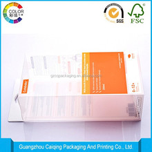 eco-friendly clear plastic box handle, electric products' papckaging box