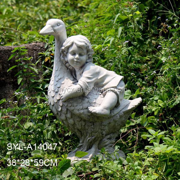 MGO Garden Landscaping Little Boy Garden Statue. SYL A14047.JPG