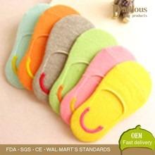 Solid color contact socks