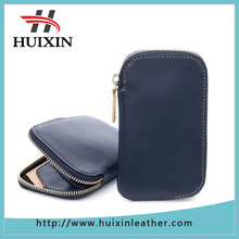 New design leather phone pocket wallet genuien leather phone case with card holders