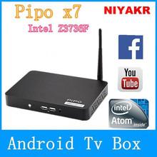 Original PiPO X7 Mini PC TV BOX Intel Z3736F 2.16GHz 2GB DDR3 32GB Bluetooth 4.0 TF LAN Silver Link