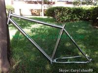 XACD Titanium bike frame mtb bicycle frame with hand brush customize