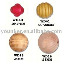 Round Shape Natural Wooden Beads Wholesale