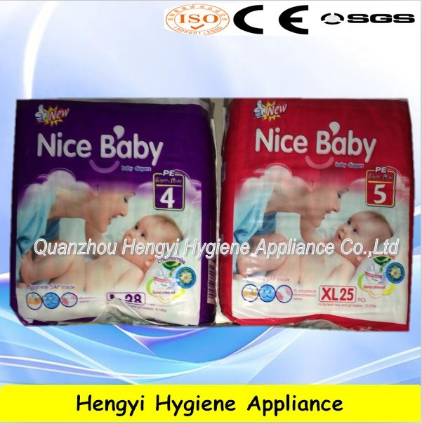 Disposable high quality and super absorbent clothlike backsheet Sleepy Baby Diaper