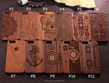 Natural Carved Real Wood+PC Wooden Hard Case Cover Protect For iPhone 5 for 5S for 6 for 6Plus Mobile Phone Case