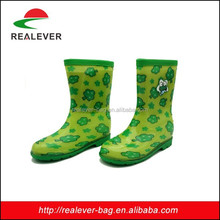 green small trees printing kids jelly boots