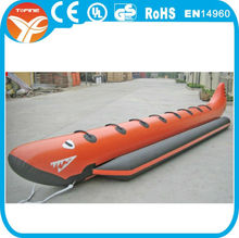 Durable funny banana boat with 7seats