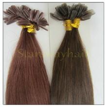 Mongolian/Russia hair 100% human hair keratin U tip hair extensions