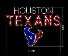 hot sale houston strass rhinestones texans motif accessories for garment