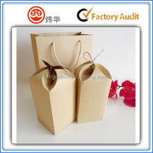 beautiful kraft paper tea box with ribbon decoration and tea bag in a pair