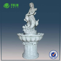 Popular antique fountain nude mermaid water fountain resin fountain