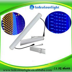 Plastic cover IP65 led full rgb color dmx 12v digital tube/3D video tube light