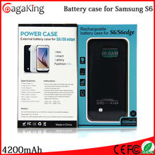 Lithium lion battery for samsung s6 with 4200mah 5 colors universal portable power bank