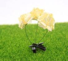Latest design girl head long grass bean flower hairpin