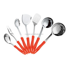 stainless steel kitchenware 2015 style high Quality with plastic handle Cookware/modern kitchen designs7PCS/SET S48