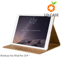 manufacturers leather briefcase for IPad Pro 12.9 inch multifunction PU tablet case for ipad 2/3/4/air