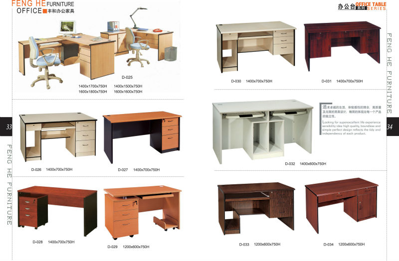 Moderno escritorio de oficina de melamina han caj n con - Como hacer una mesa escritorio ...