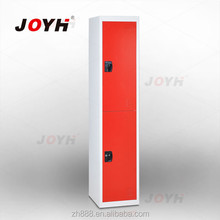 2 door metal clothes locker with hanging rods