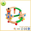 Eco-friendly Roller Coaster Wooden Track Blocks Toy