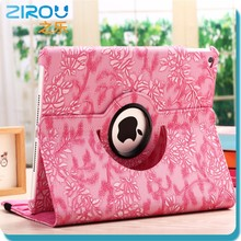 China supplier ,360 Degree Roating Leather Case with Swivel Stand for ipad air manufacture quality