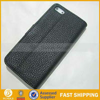 mobile phone accessory Embossed logo leather cases for iPhone5