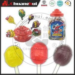 21g Big Ball Lollipop In Bottle / Spider Man Fruit Lollipop In Jar