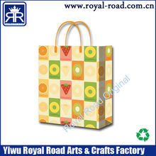 Competitive fruit design for charming holiday gift paper bag in high quality
