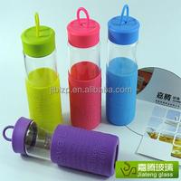 glass sport water bottle, glass travel bottle wholesale glass water bottles double wall glass water bottle