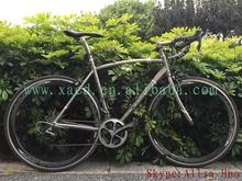 XACD 2015 new design!!! titanium road bike frame for 700c wheel size