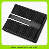 Wallet anti-theft alarm RFID blocking leather wallet wholesale