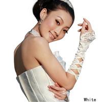1 пара новые моды официальных свадебных платье аксессуары невеста небольшие вышитые Перчатки Перчатки с открытыми пальцы белые wds-0004
