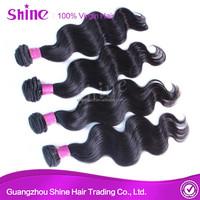 Top Quality Straight 100% human virgin hair grade body wave brazilian 7a