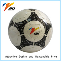 Outdoor sporting butyl bladder soccer ball by hand sewn