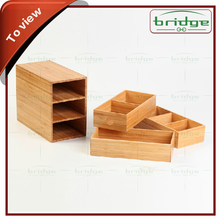 3 style bamboo storage drawer for food, spice, clothing