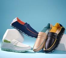 D16545A 2015 top grade PU men's shoes , fashion design casual shoes for men