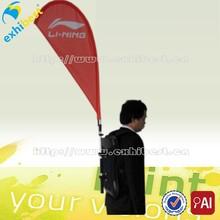 Producto caliente anuncio mochila plumas banderas bandera de la lágrima