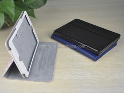 13003 Beautiful genuine leather printing stand smart case for ipad mini