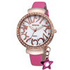 2015 skone IP rose gold plating alloy watch with leather strap popular in Europe and America